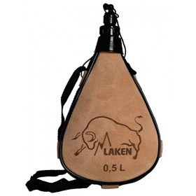 Кожаная фляга Laken Leather Canteen 0.5 L PK500-R