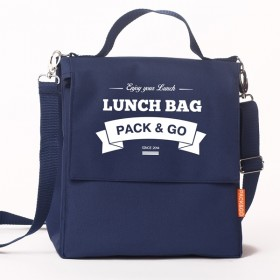 Ланчбег  Lunch Bag L+ темно синий
