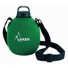 Классическая фляга Clasica 1 L. with green neoprene cover and shoulder strap