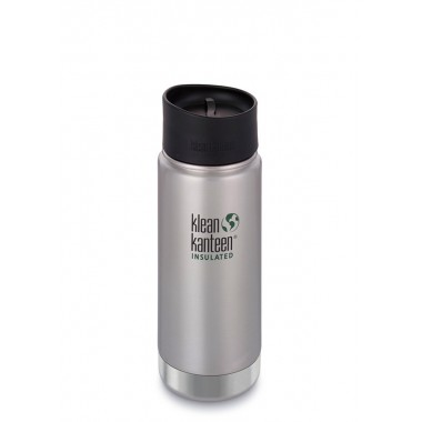 Термофляга Klean Kanteen Wide Vacuum Insulated Cafe Cap 473 ml Brushed Stainless