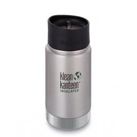 Термофляга Klean Kanteen Wide Vacuum Insulated Cafe Cap Brushed Stainless 355 ml серебристый