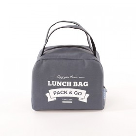 Ланчбег Pack&Go Lunch Bag ZIP серый