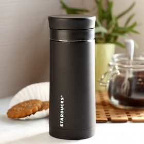 Френч пресс Starbucks Stainless Steel Travel Press - Black, 296 мл.
