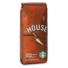 Кофе Старбакс Сoffee Starbucks House Blend, Whole Bean, 453 gr. (зерно)