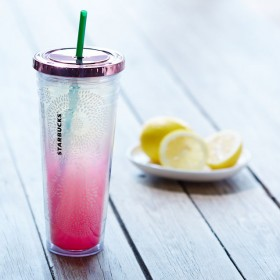 Стакан с трубочкой Starbucks Blossom Design Cold Cup