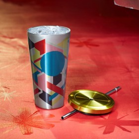 Стакан с трубочкой Starbucks Cold Cup Tumbler - Multi-Color Geometric