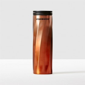 Тамблер STARBUCKS STAINLESS STEEL SWIRL TUMBLER - Orange 473 МЛ