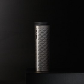Термокружка Starbucks Quilted Stainless Steel Tumbler - Silver 473 мл.